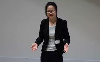 Xiaonan Lu at UNT Three Minute Thesis Competition